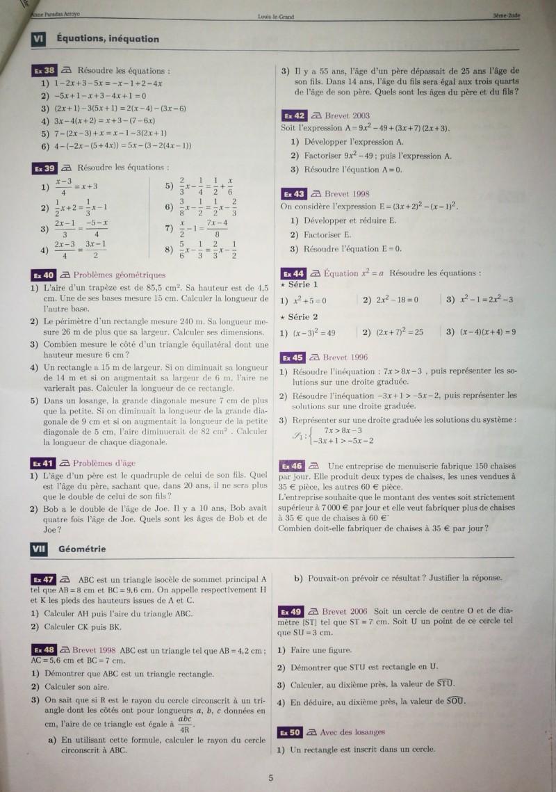 Cahier de vacances mathématiques Seconde 20190714