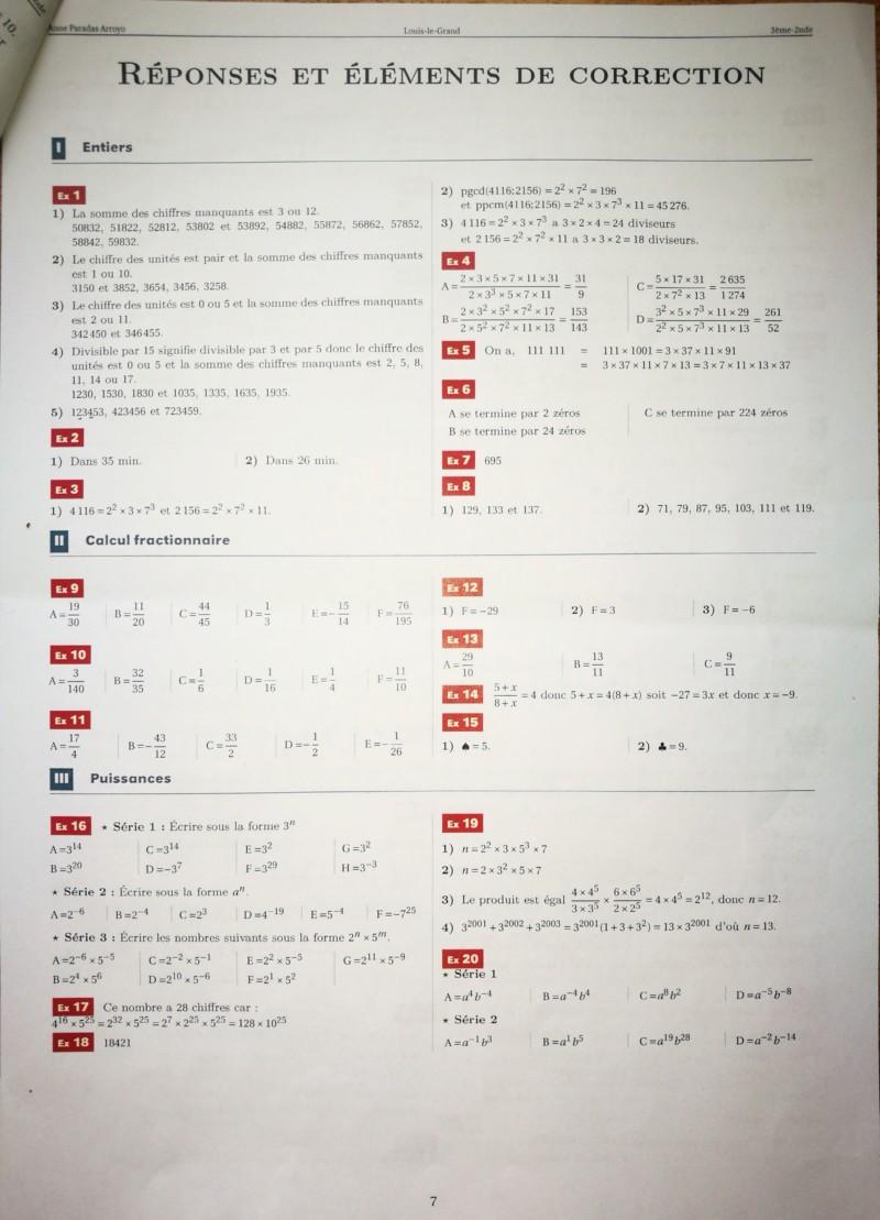 Cahier de vacances mathématiques Seconde 20190716