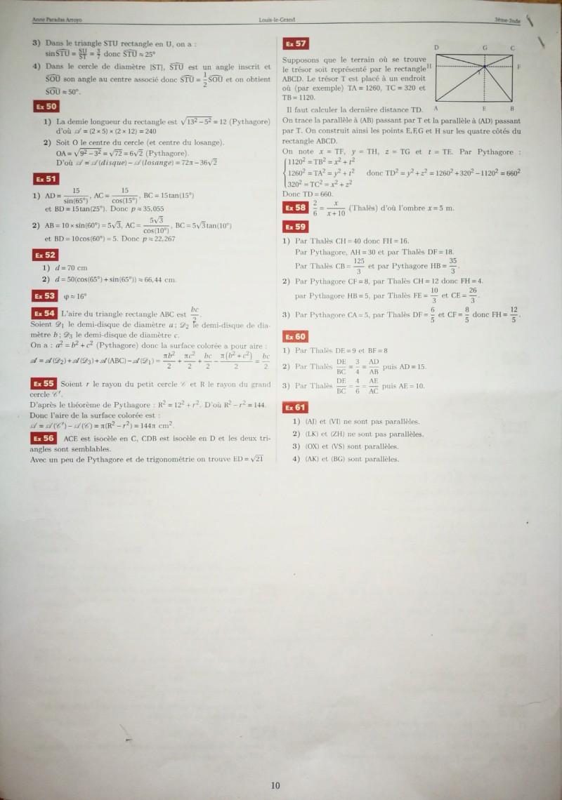 Cahier de vacances mathématiques Seconde 20190719