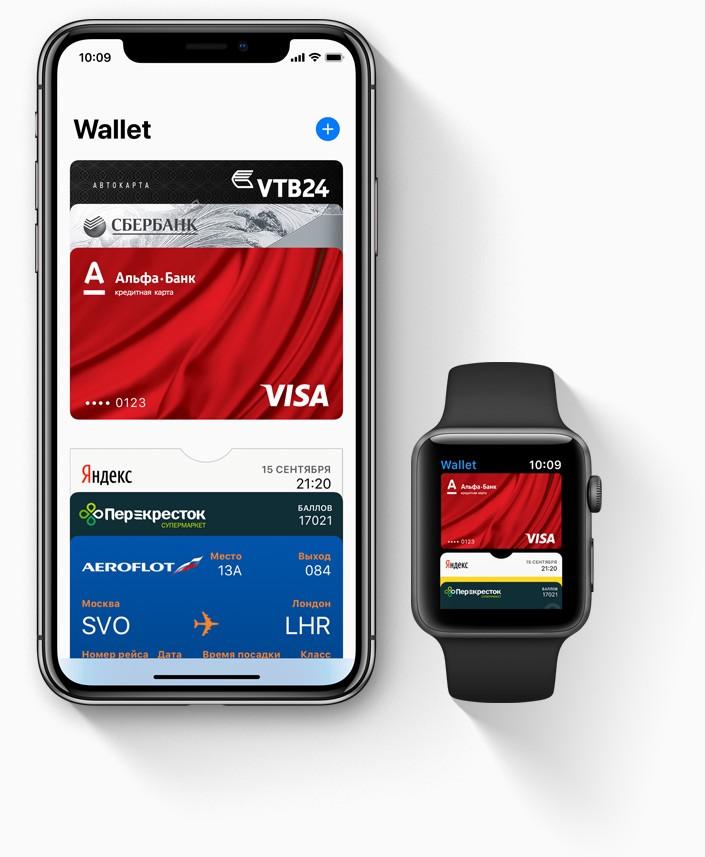 Программа Wallet (оформление банковских карт через сайт и добавление в приложение, поддержка электронных карт лояльности) 0ad5e110