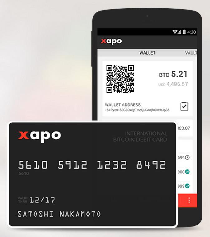 Криптовалютные карты Xapo-d10