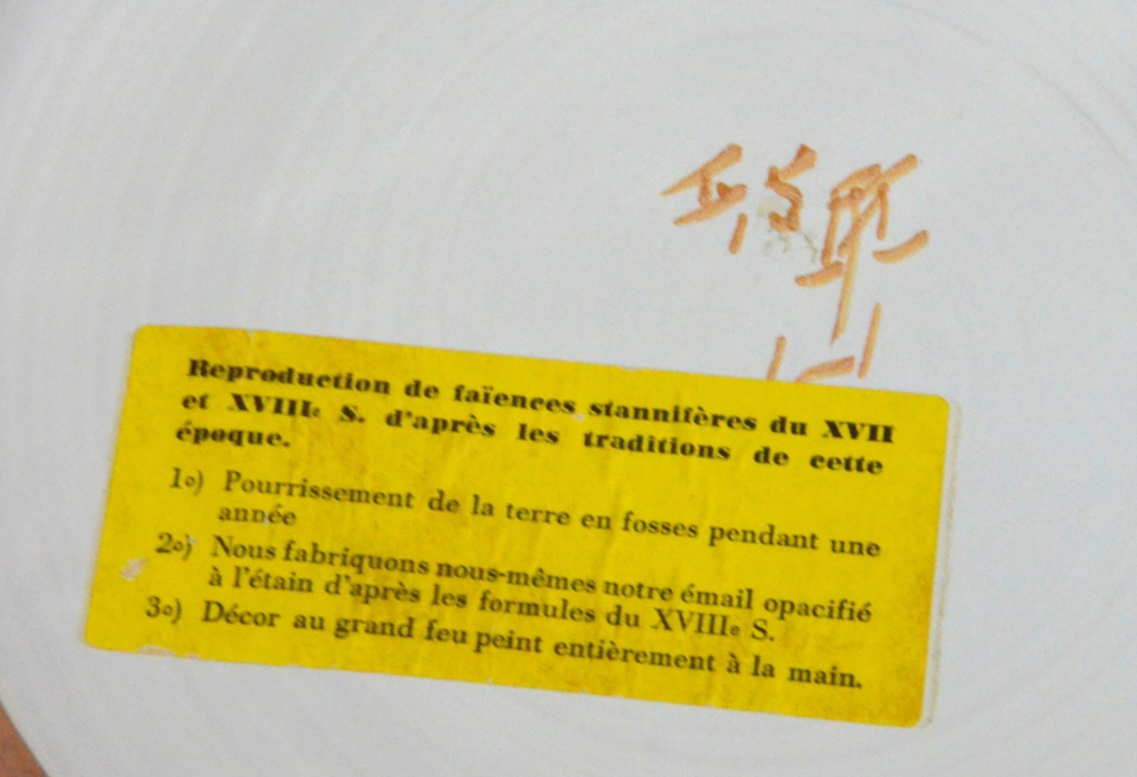 Dessous de plat faïence reproduction du 17 et 18 ème Dessou14