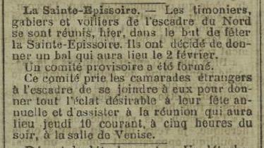 [ Histoire et histoires ] La Royale à travers la presse ancienne - Page 2 Sainte10