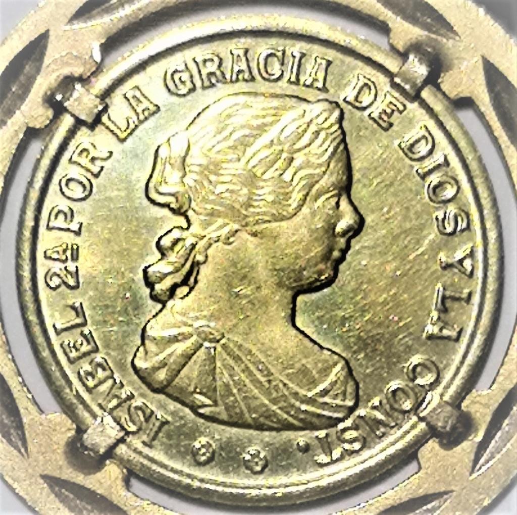 Moneda oro Isabel II 1110