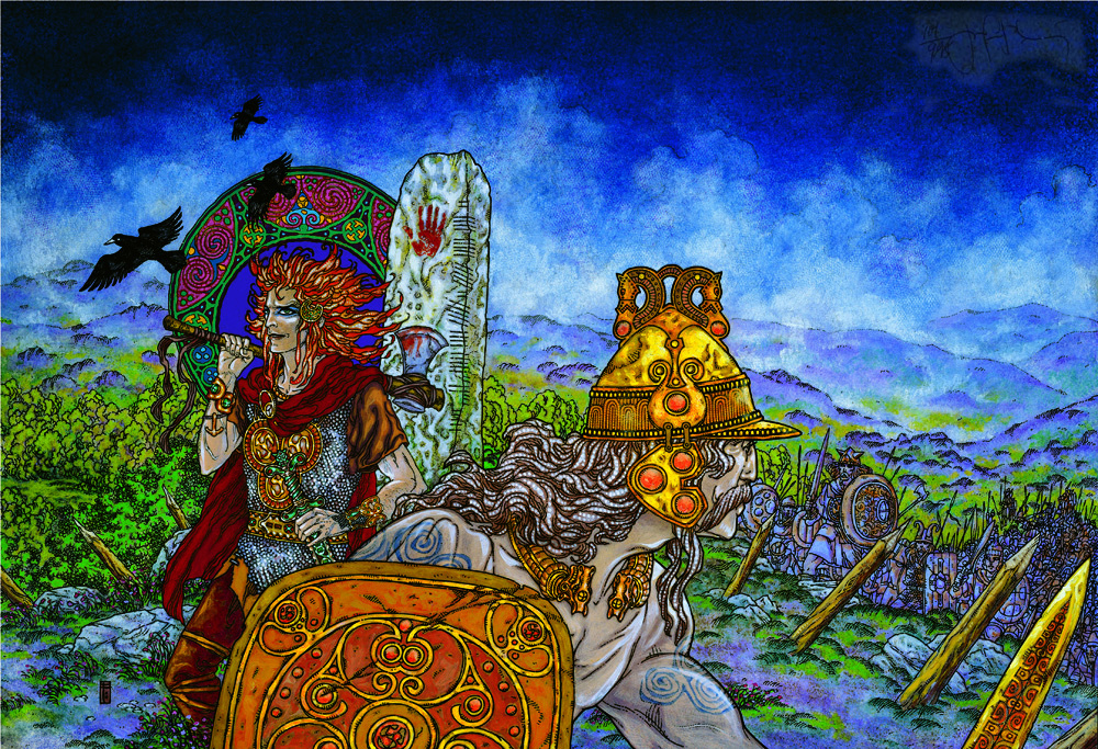 Irish Folklore Art  Cuchul11
