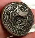 4 maravedís de Felipe III resellados a 8 Y 12, 1603/1636. 1_162110