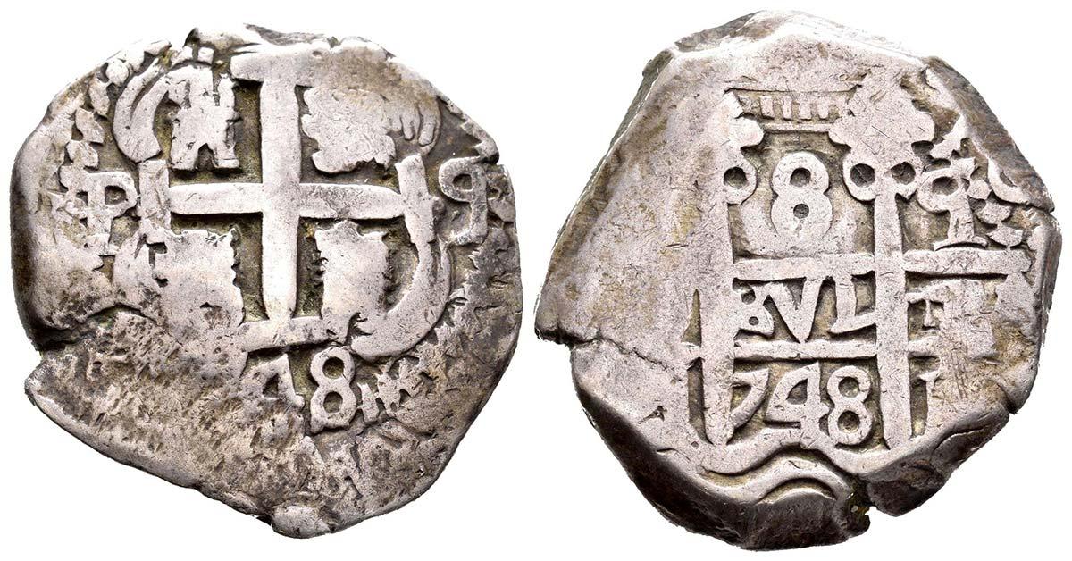 Identificación de ceca - 8 reales macuquinos de 1748 130611