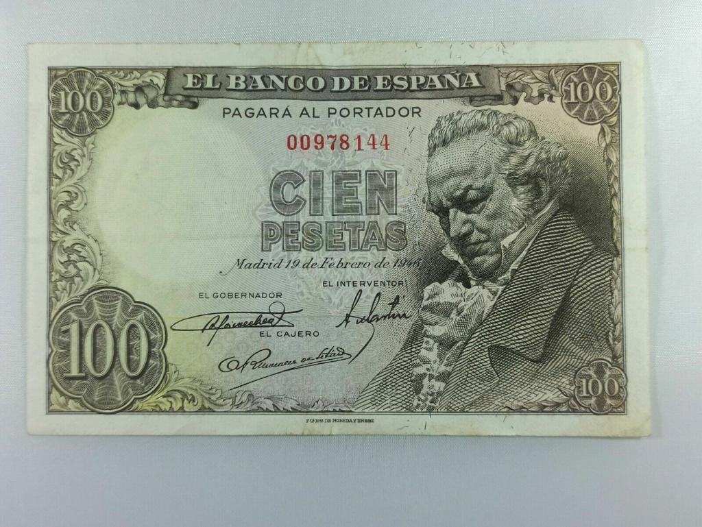 100 pesetas 1946 - duda estado y precio G111