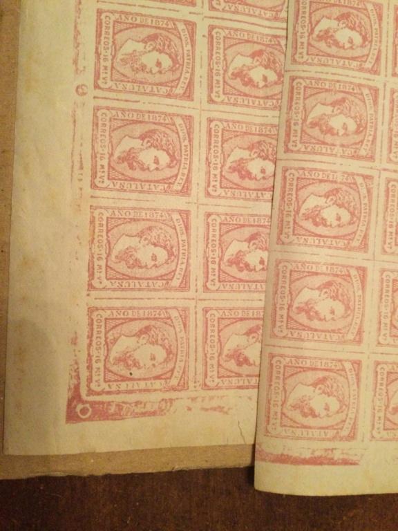 Correo Carlista.Hoja de sellos Carlos vii 1867 0d91f810