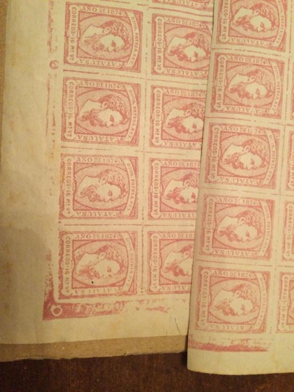 Correo Carlista.Hoja de sellos Carlos vii 1867 22f43d10