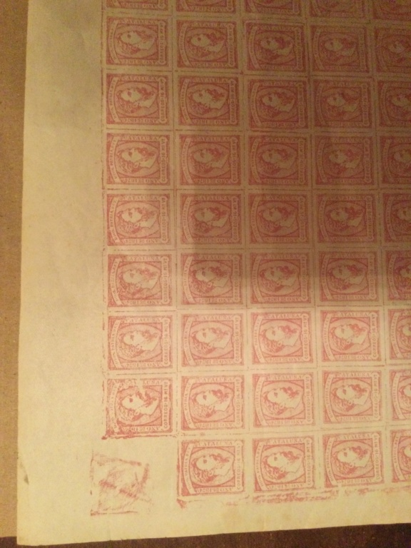 Correo Carlista.Hoja de sellos Carlos vii 1867 A99bfa10