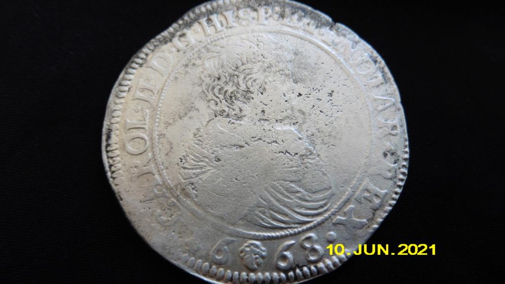 Ducaton Carol II 1668 Brussel/VOC schip 't Vliegend Hert P1020618