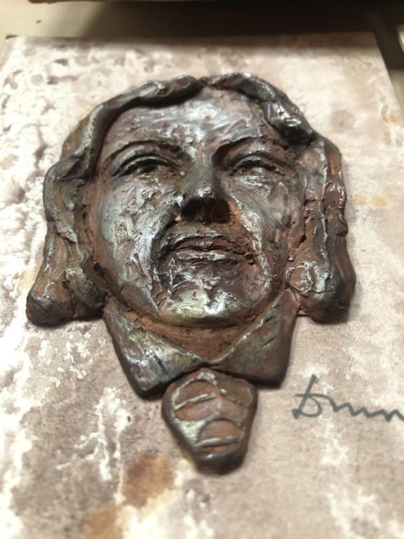 Set of 4 clay (?) sculpted Irish author heads 1ed4e810