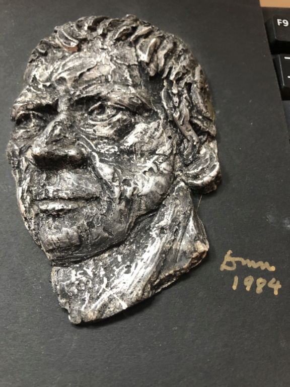 Set of 4 clay (?) sculpted Irish author heads F868b610