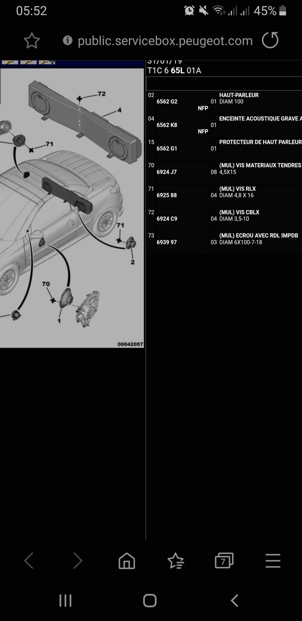Fixation du Caisson JBL D'origine Scree263