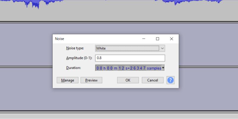 """Effetto """"radio in sottofondo"""" con Audacity Muo-cr32"""