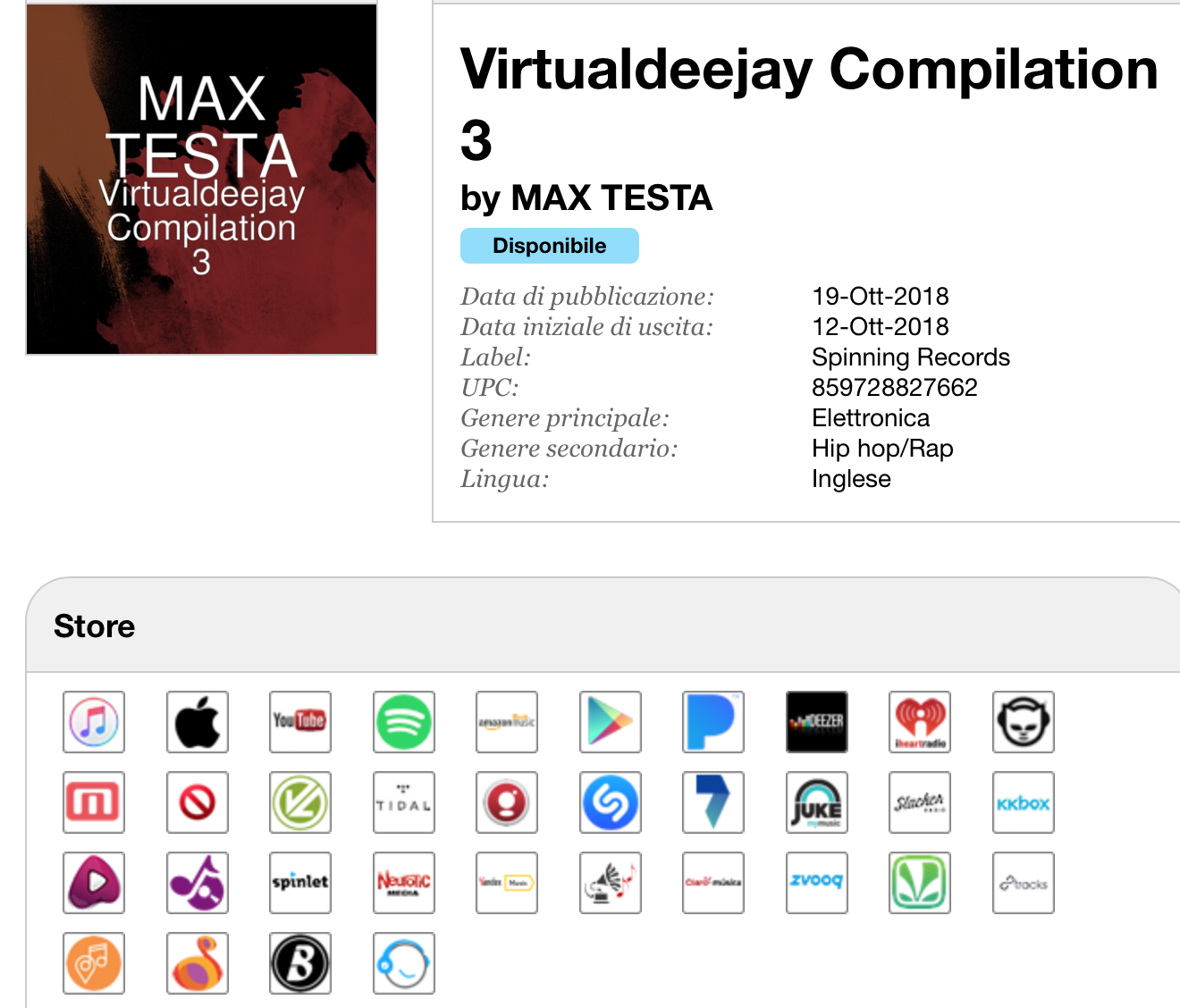 VRTUALDEEJAY COMPILATION 3 (#SpinningRecords) Virtua11