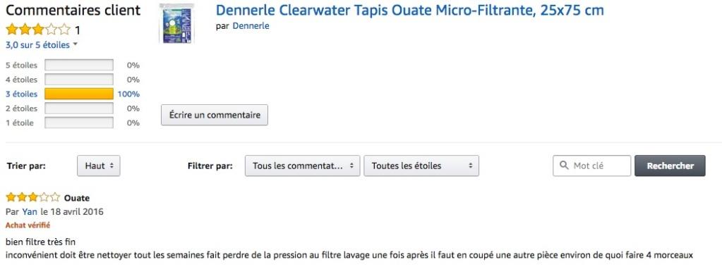 Micro FiLTRE Dennerle  Captu144