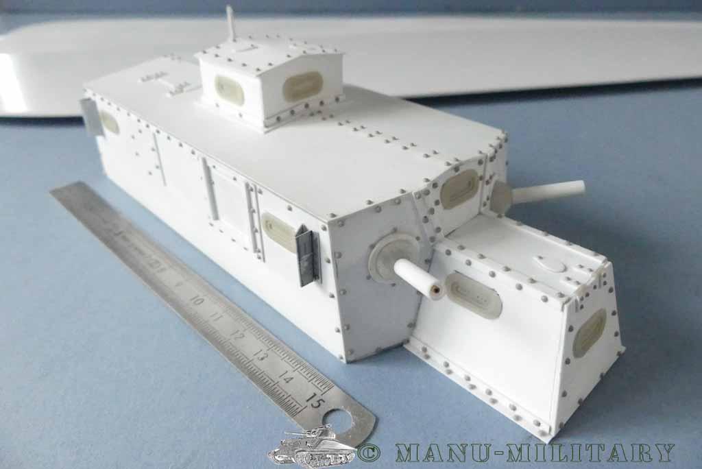 Heavy tank MkVIII, scratch intégral 1/16ème P1150115