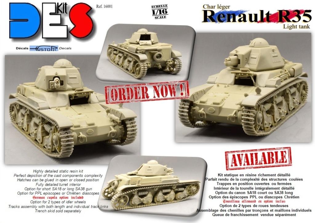 Renault R35 - DES kit - 1/16e R35-or10