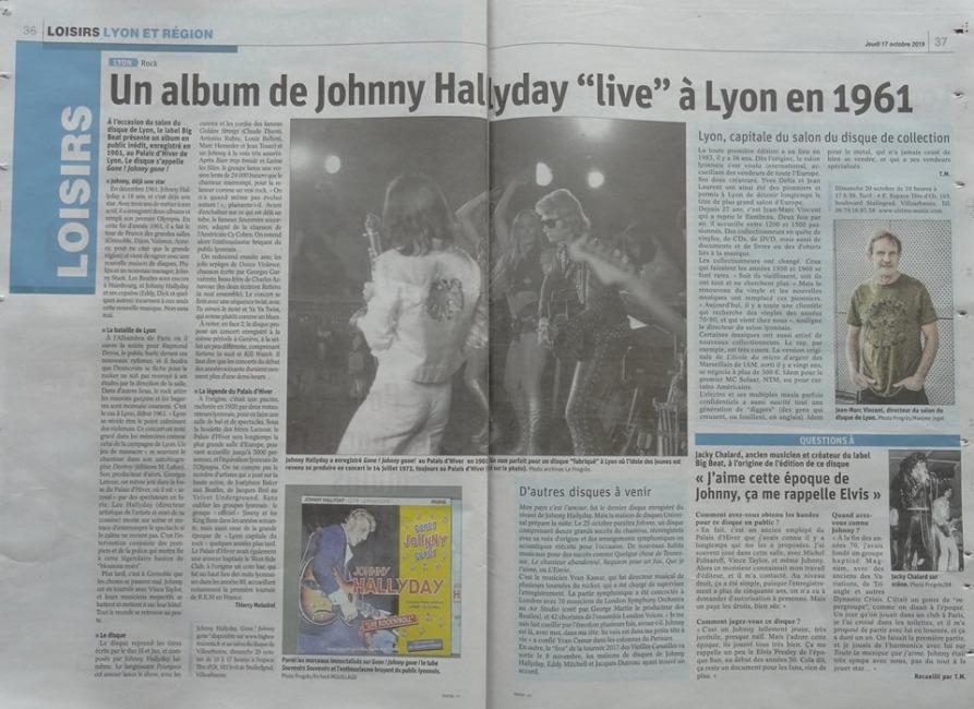 Johnny au Palais d'Hiver de Lyon en 1961. Un disque inédit 72717111