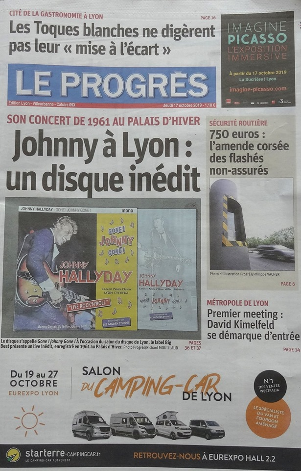 Johnny au Palais d'Hiver de Lyon en 1961. Un disque inédit 72865510