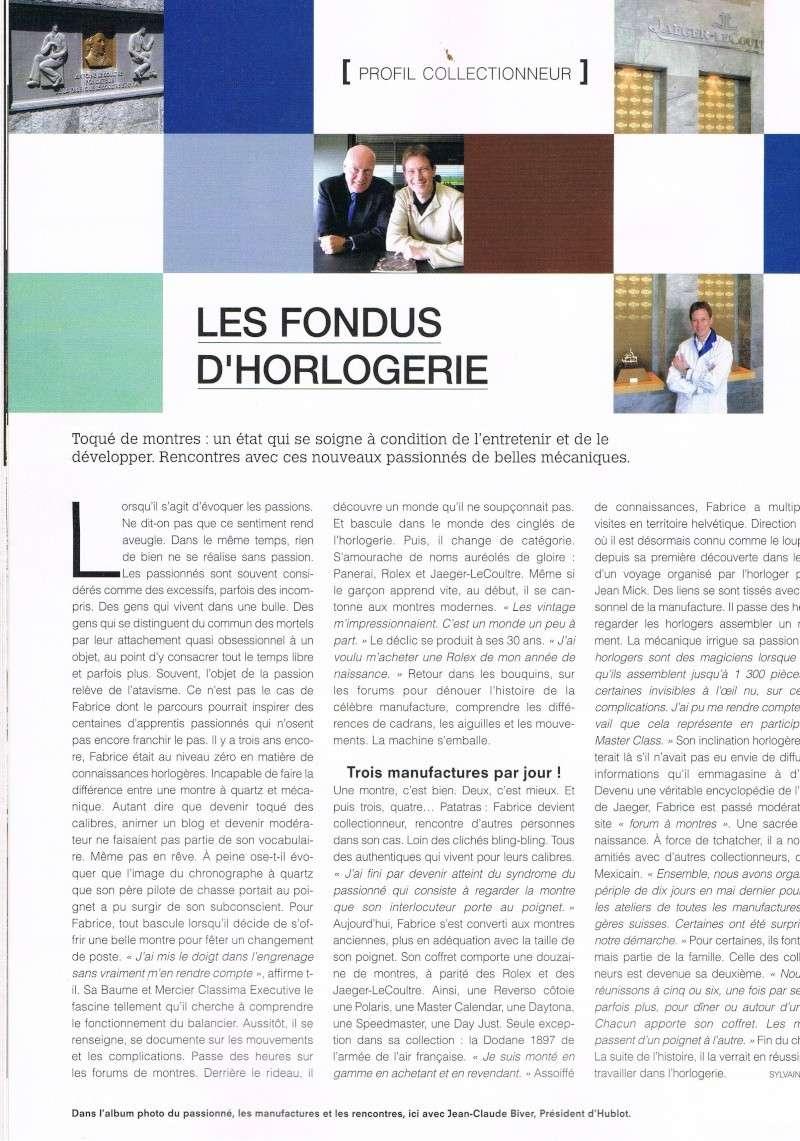 """article dans """"Montres Magazine"""" Hiver 2009/2010 Ccf30110"""