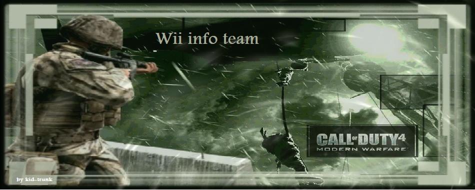 wii info team Call of duty