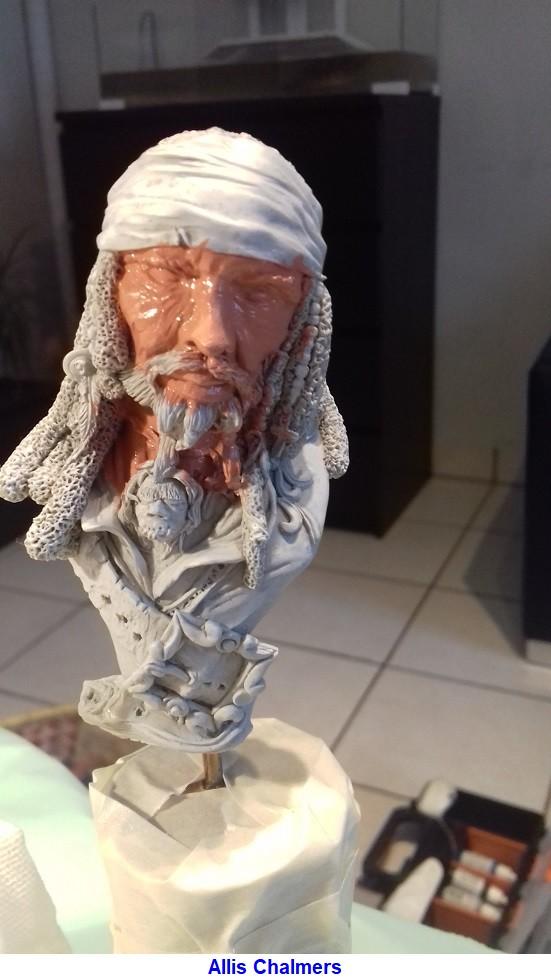 BUSTE de PIRATE sculpté par Jean-Claude-BESENYEI 20180210