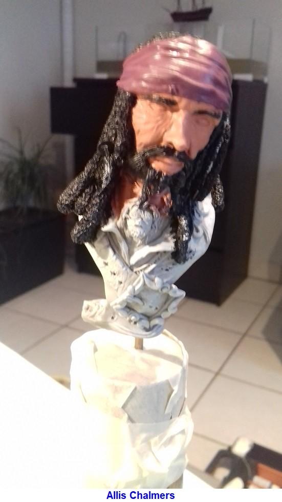 BUSTE de PIRATE sculpté par Jean-Claude-BESENYEI 20180213