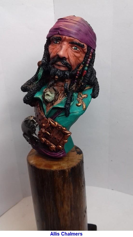 BUSTE de PIRATE sculpté par Jean-Claude-BESENYEI 20180530