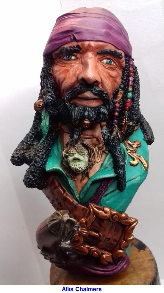 BUSTE de PIRATE sculpté par Jean-Claude-BESENYEI 20180538