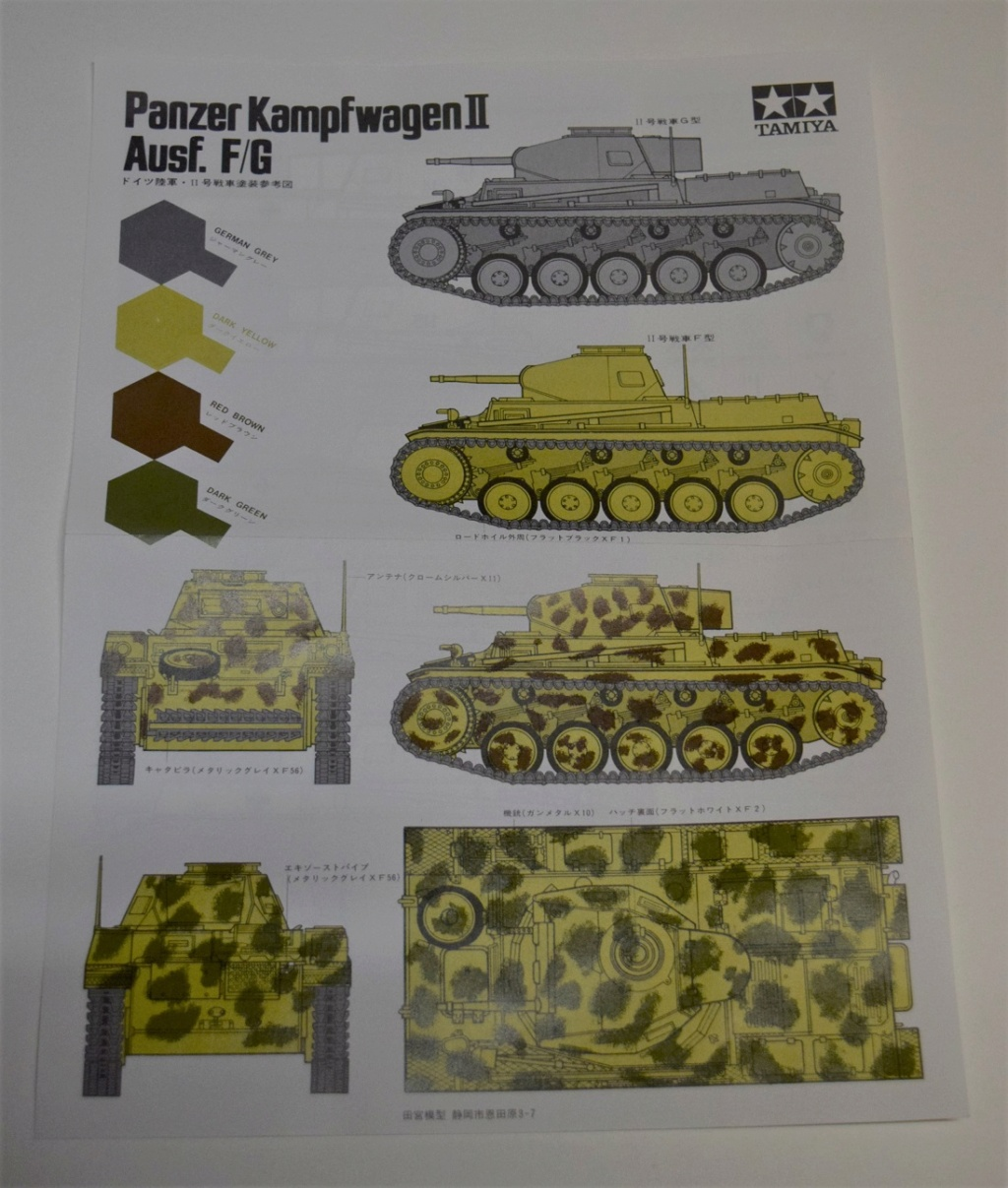 Fil rouge 2021 * Panzer Kampfwagen II Ausf. F/ G au 1/35 - TAMIYA - 1971 - *** Terminé en pg 3 Dsc_0324