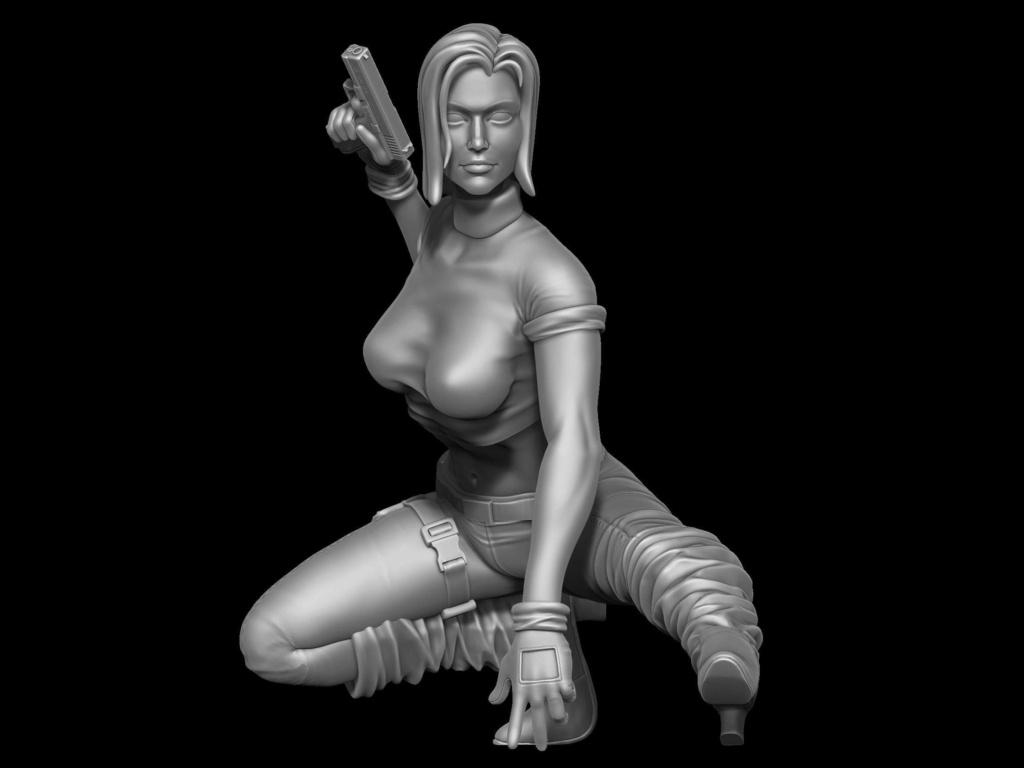 "Figurines 1/24 """" Les Danger girls """" - Finies -  Receiv12"