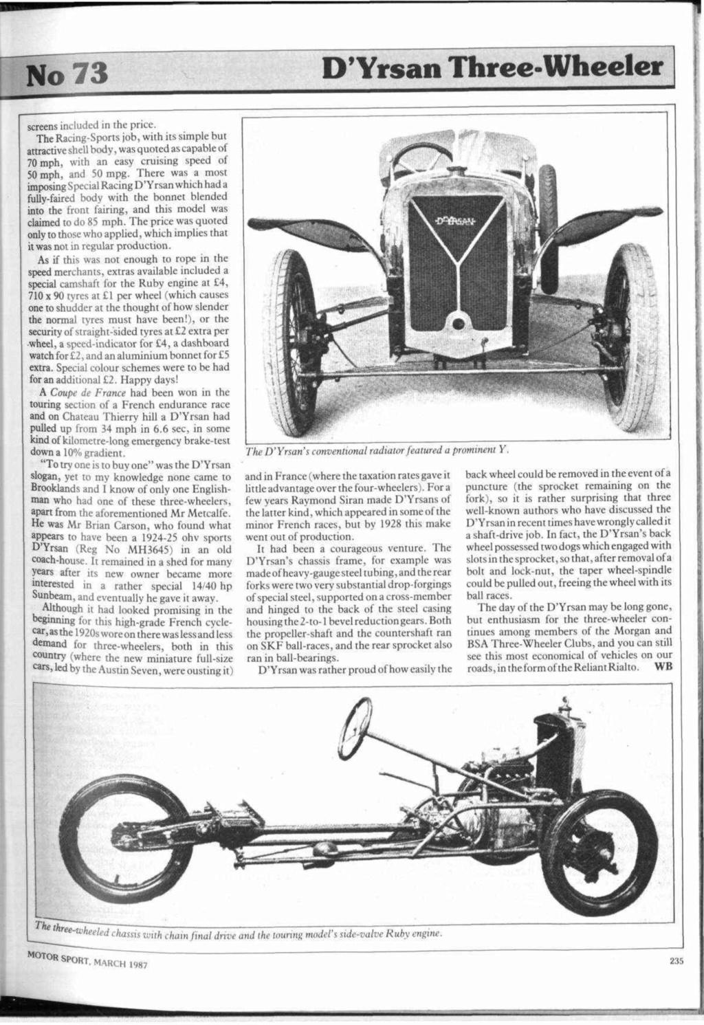 D'Yrsan tricyclecar - Page 2 12766410