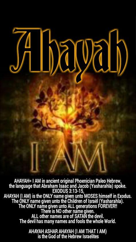 Quel est le nom de DIEU en Hébreu? - Page 4 Ahayah10