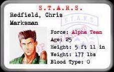 Resident Evil 1 (Ps1) Chris10