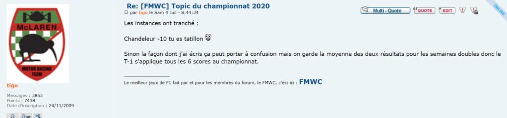 [FMWC] Réglement 2020 Tigo210