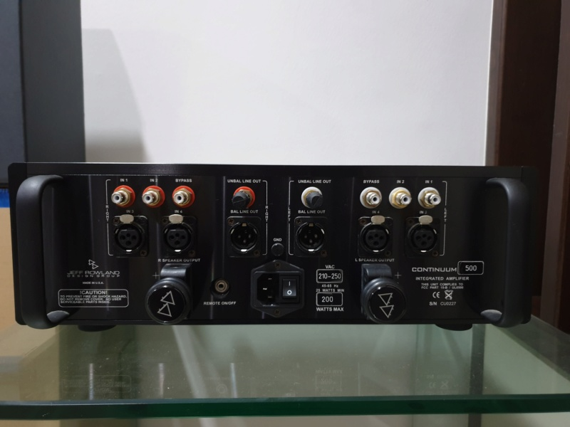 Jeff Rowland Continuum 500 Integrated Amplifier (Used) 2019-021