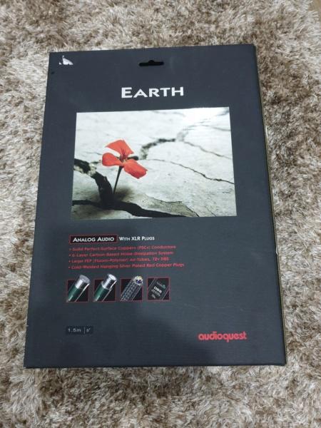 AudioQuest Earth Interconnect Balanced XLR 72v DBS 1.5m(Used) 2020-010