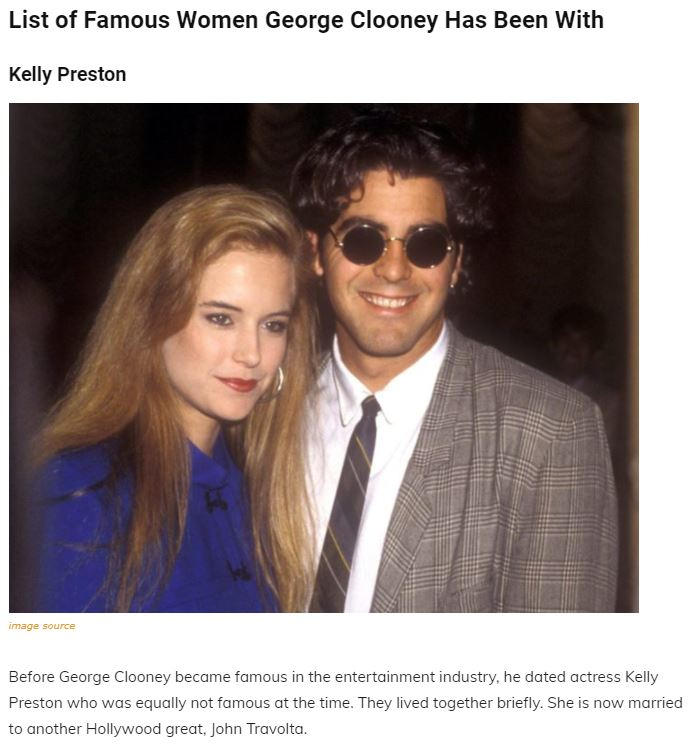 A Walk Through The Maze Of George Clooney's Past Relationships, Family and Net Worth Articl10