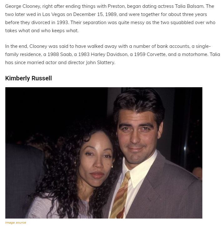 A Walk Through The Maze Of George Clooney's Past Relationships, Family and Net Worth Articl12