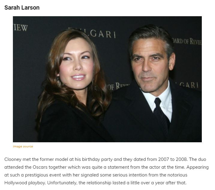 A Walk Through The Maze Of George Clooney's Past Relationships, Family and Net Worth Articl16