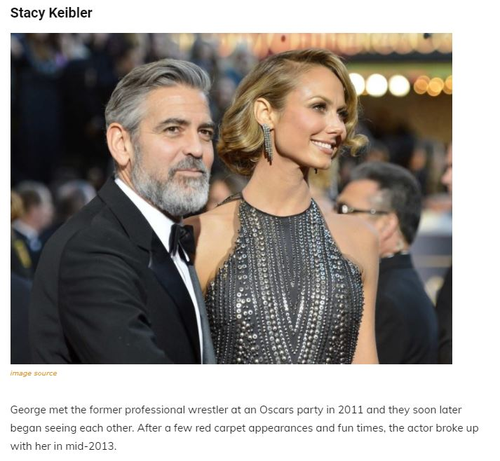 A Walk Through The Maze Of George Clooney's Past Relationships, Family and Net Worth Articl19