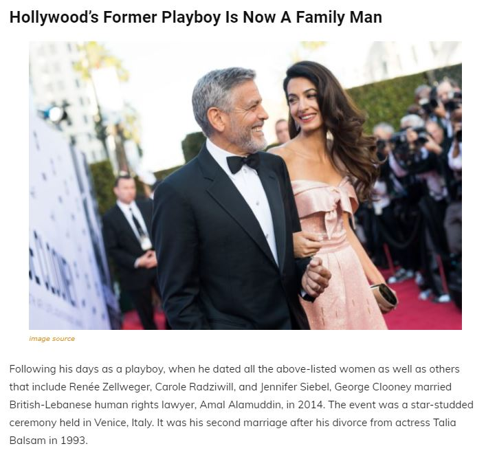 A Walk Through The Maze Of George Clooney's Past Relationships, Family and Net Worth Articl20