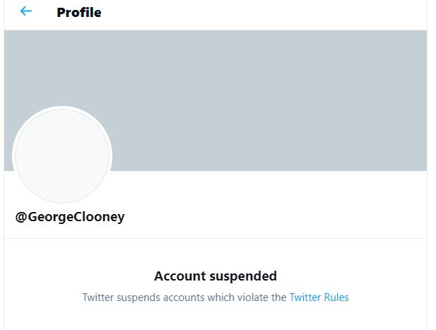George Clooney's twitter account suspended!! Captur10