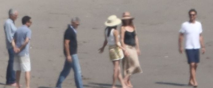 Celebrating George Clooney's birthday: Amal Clooney in Malibu with Cindy Crawford Cloone13