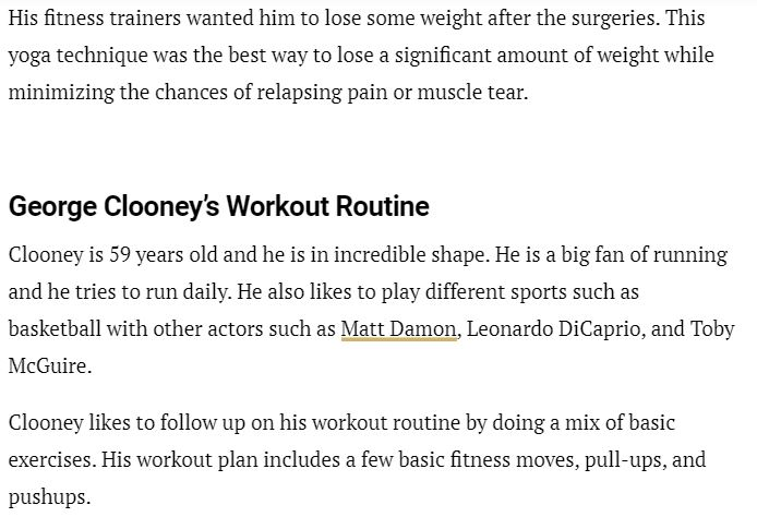 George Clooney's supposed diet and workout routine Cloone38
