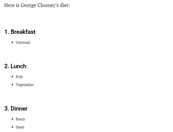 George Clooney's supposed diet and workout routine Cloone40
