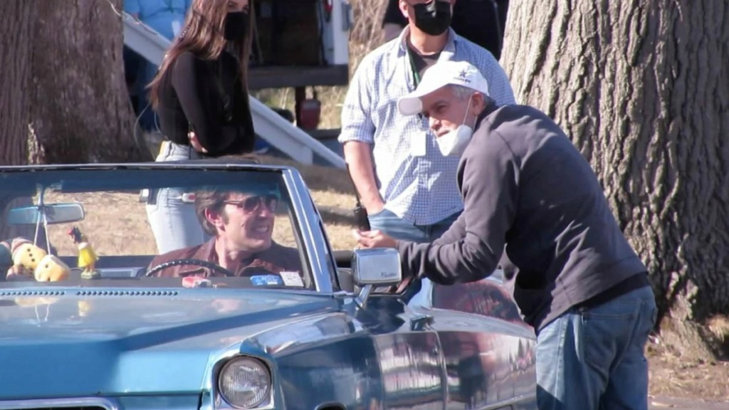 George Clooney and Ben Affleck on set - March 23rd  Filmin12